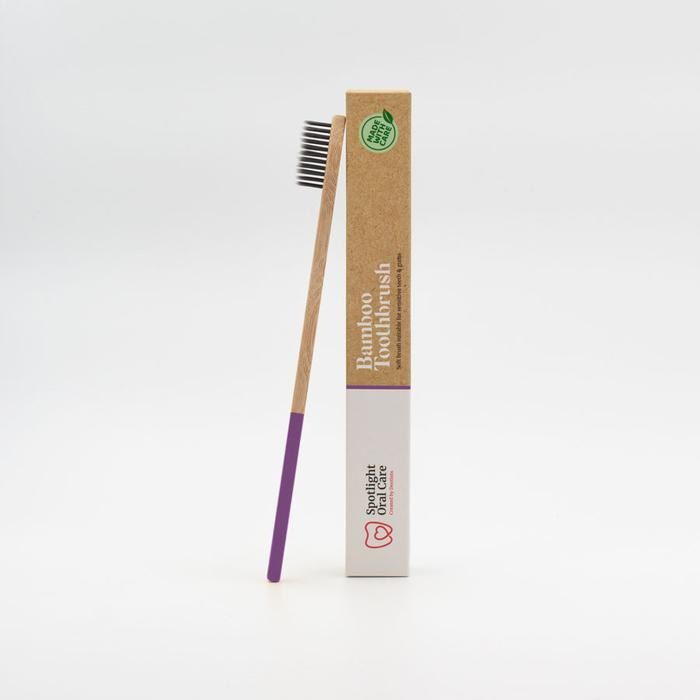Spotlight bamboo toothbrush purple