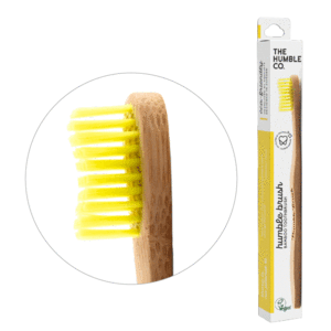 Humble Bamboo toothbrush soft yellow