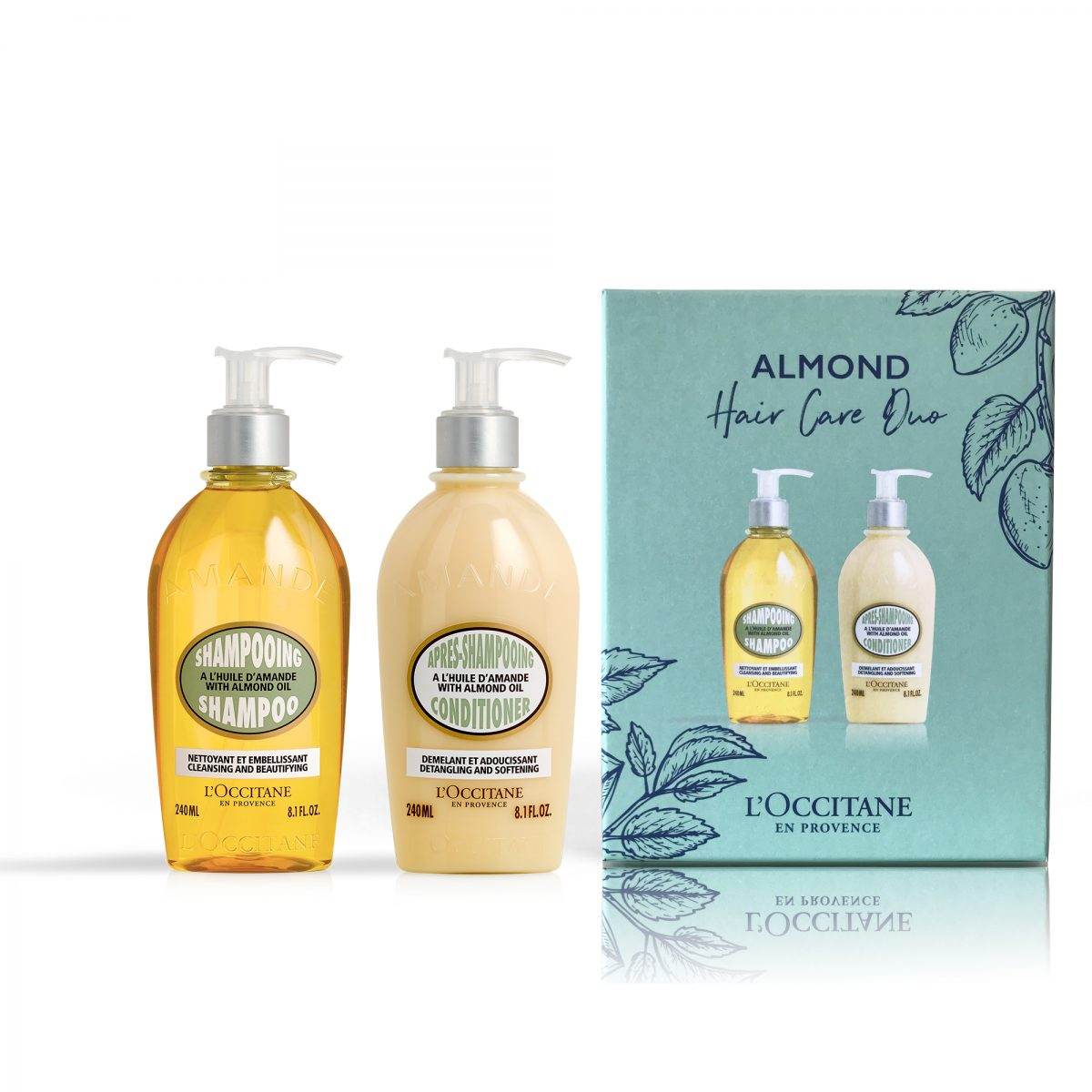 L'Occitane Almond shampoo and conditioner duo set
