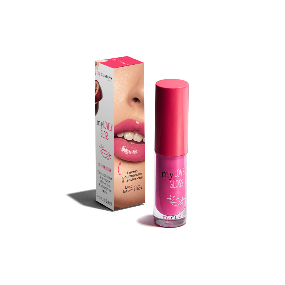 My Clarins my LOVELY GLOSS 01 PINK IN LOVE