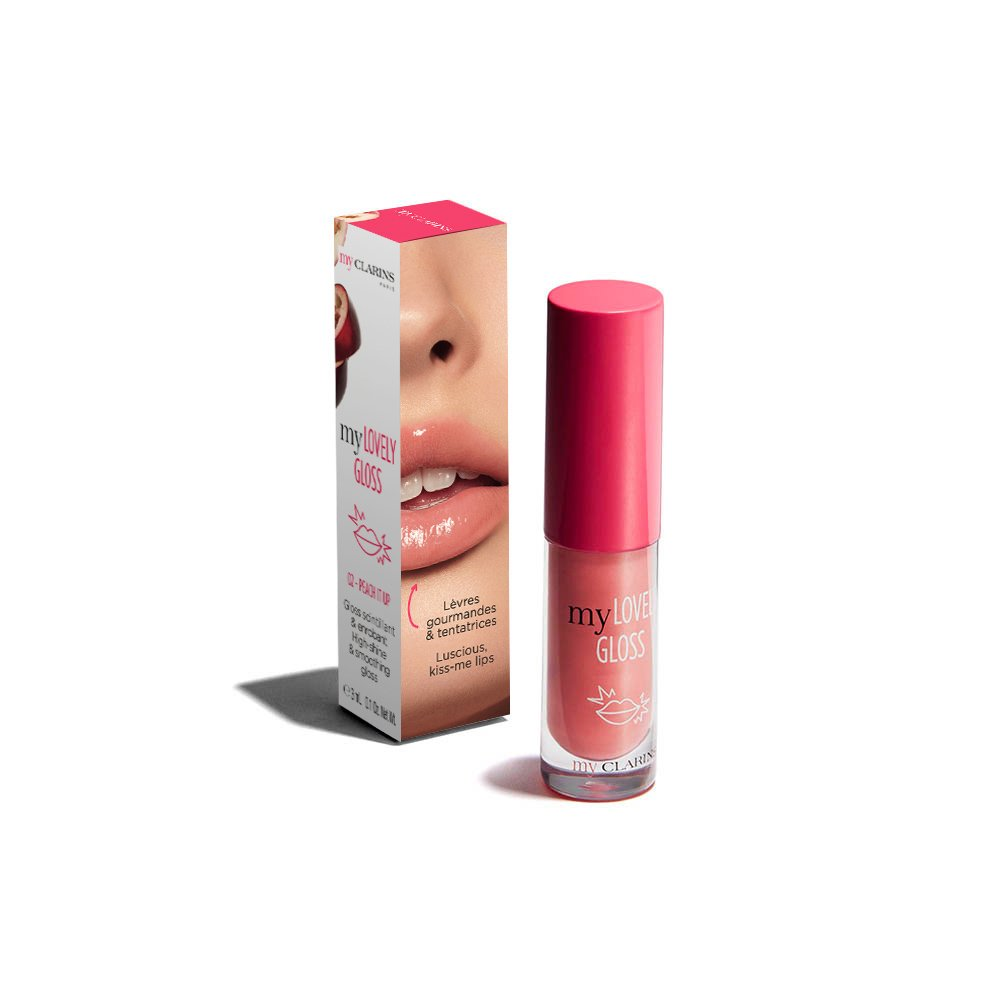My Clarins my LOVELY GLOSS 02 PEACH IT UP